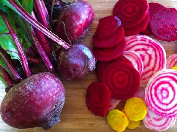 a variety of beets