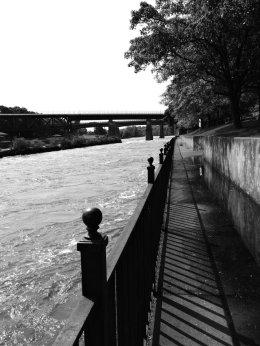 river railing Linear Park BW (2)
