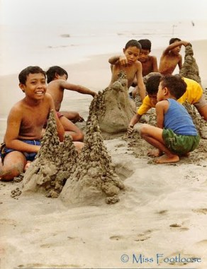 Bali kids on the beach