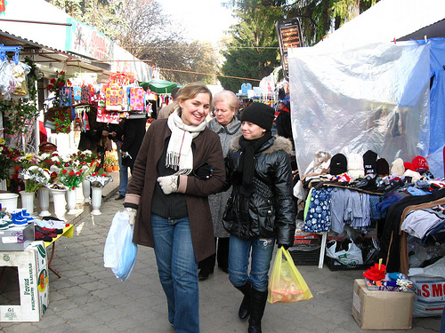 Open market in Moldova