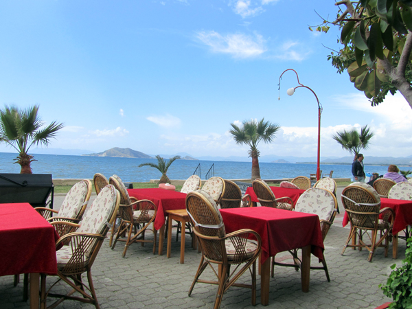 Seaside restaurant in Turkey