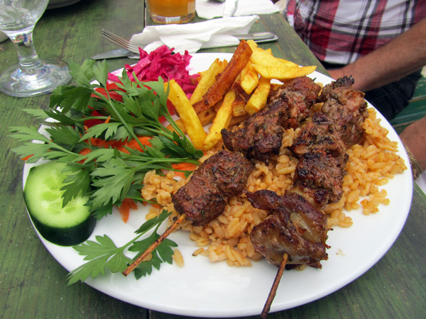 Turkish lamb kebab