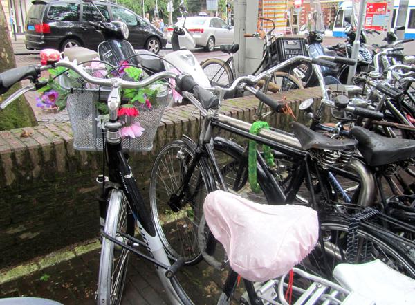 decorated bike in Amsterdam