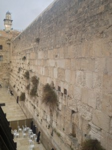Western Wall, Temple Mount, Jerusalem - the bottom 3 courses are from the 1st c. Temple