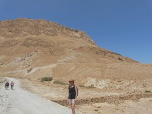 Masada, the site of the Jews last stand against the Romans in 1st c.
