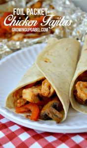 Camping Meals for Dinner and Dessert at LifeInTheNerddom.com - Chicken Fajitas Courtesy of Growing up Gabel