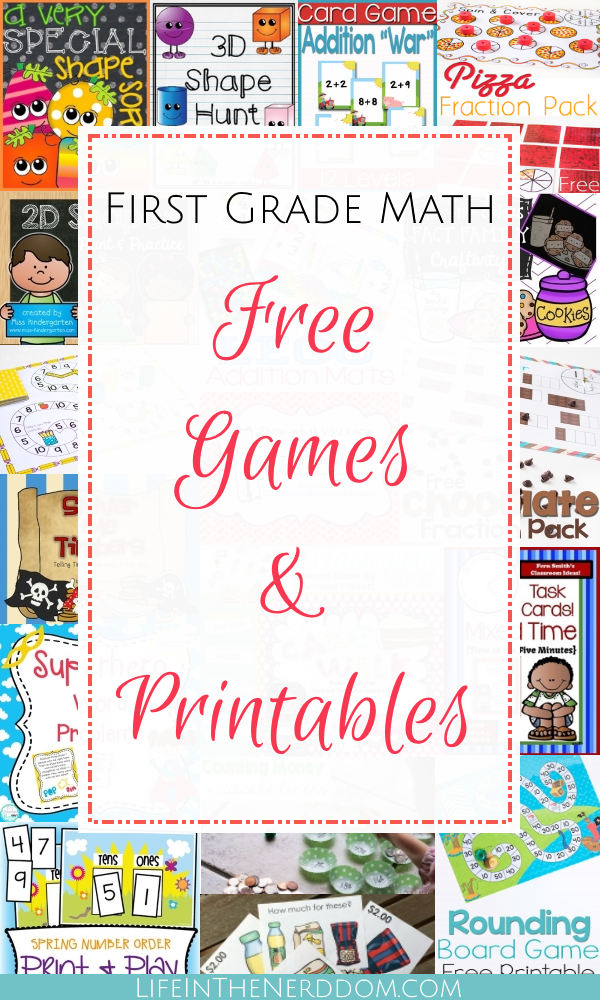 First Grade Math Free Games & Printables - Life In The Nerddom