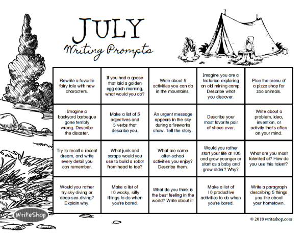 WriteShop Journal All Year Calendar
