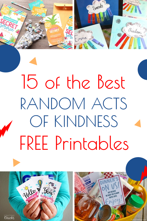 photograph relating to Random Act of Kindness Printable titled 15 of the Great No cost Random Functions of Kindness Printables