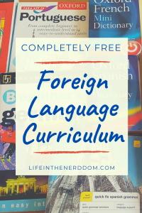 Free Foreign Language Curriculum at LifeInTheNerddom.com
