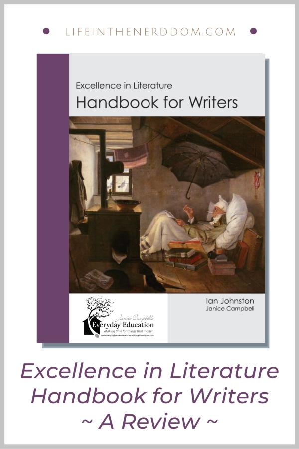 Excellence in Literature Handbook for Writers at LifeInTheNerddom.com