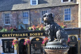 The story of one little dog who stole the hearts of the people of Edinburgh } Greyfriar's Bobby