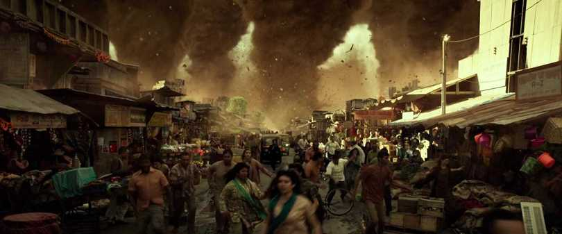Mumbai on a set in Geostorm.