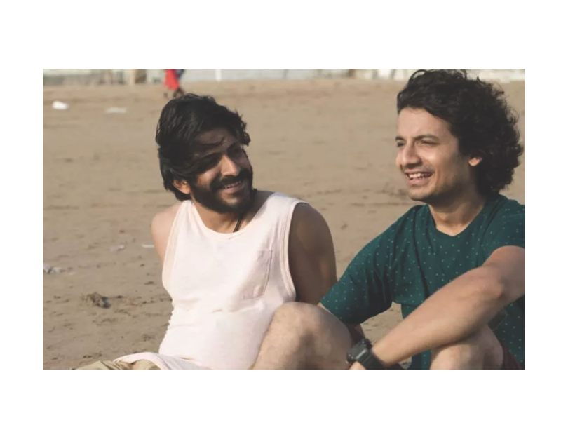 Harshvardhan Kapoor and Priyanshu Painyuli, unknowing of the horror that lies ahead.