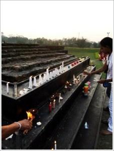 Lumbini-Candles
