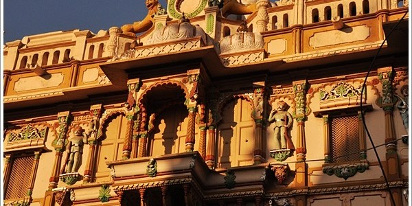 Golden Hour shows the Day in Swaminarayan Temple, Kalupur