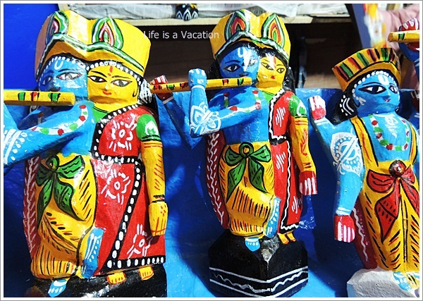 Wood Painting Krishna from Burdwan, Bengal