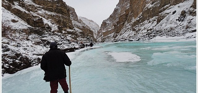 Stopping by Chadar on a Snowy Morning; Ladakh, India