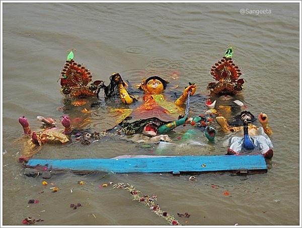 Durga Puja Immersion Sights from Kolkata