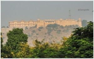 Jaipur Nahargarh Fort View from Jantar Mantar