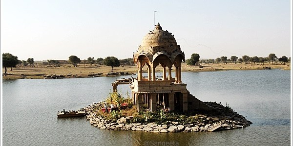 Gadsisar Lake in Jaisalmer, India