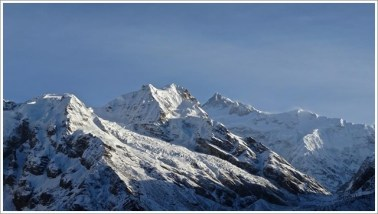 Goechala Trek with Wildboots; Kanchenjunga from View Point 1