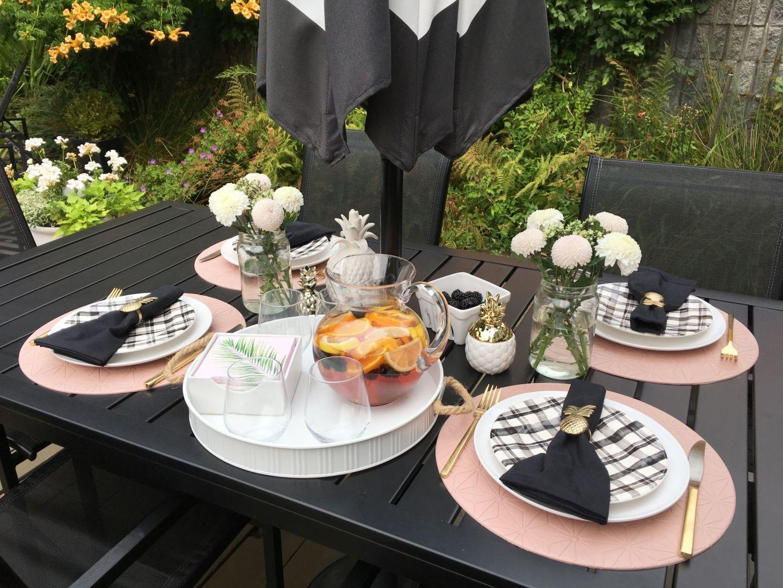 Summer's End Tablescape: Rosé Sangria Recipe