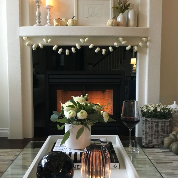 Modern Traditional Fall Living Room 20