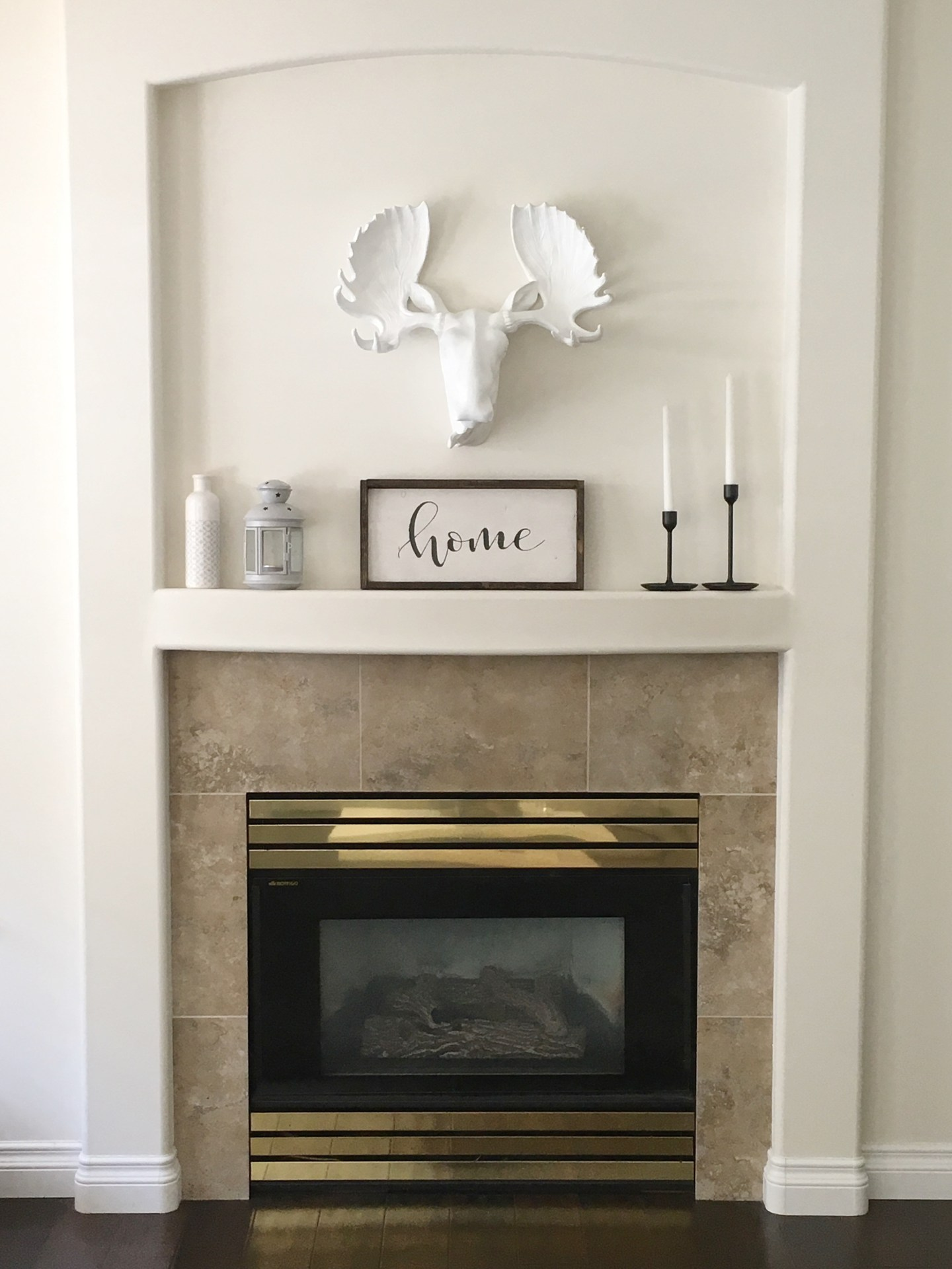 Stenciled Tile DIY Fireplace Makeover - Judy Dill