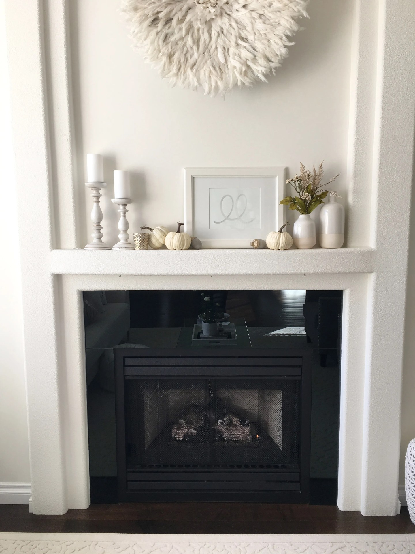 Gas or Electric Modern Smooth Mist Mantel Mantle Surround Fireplace Fire Suite Big Large 56