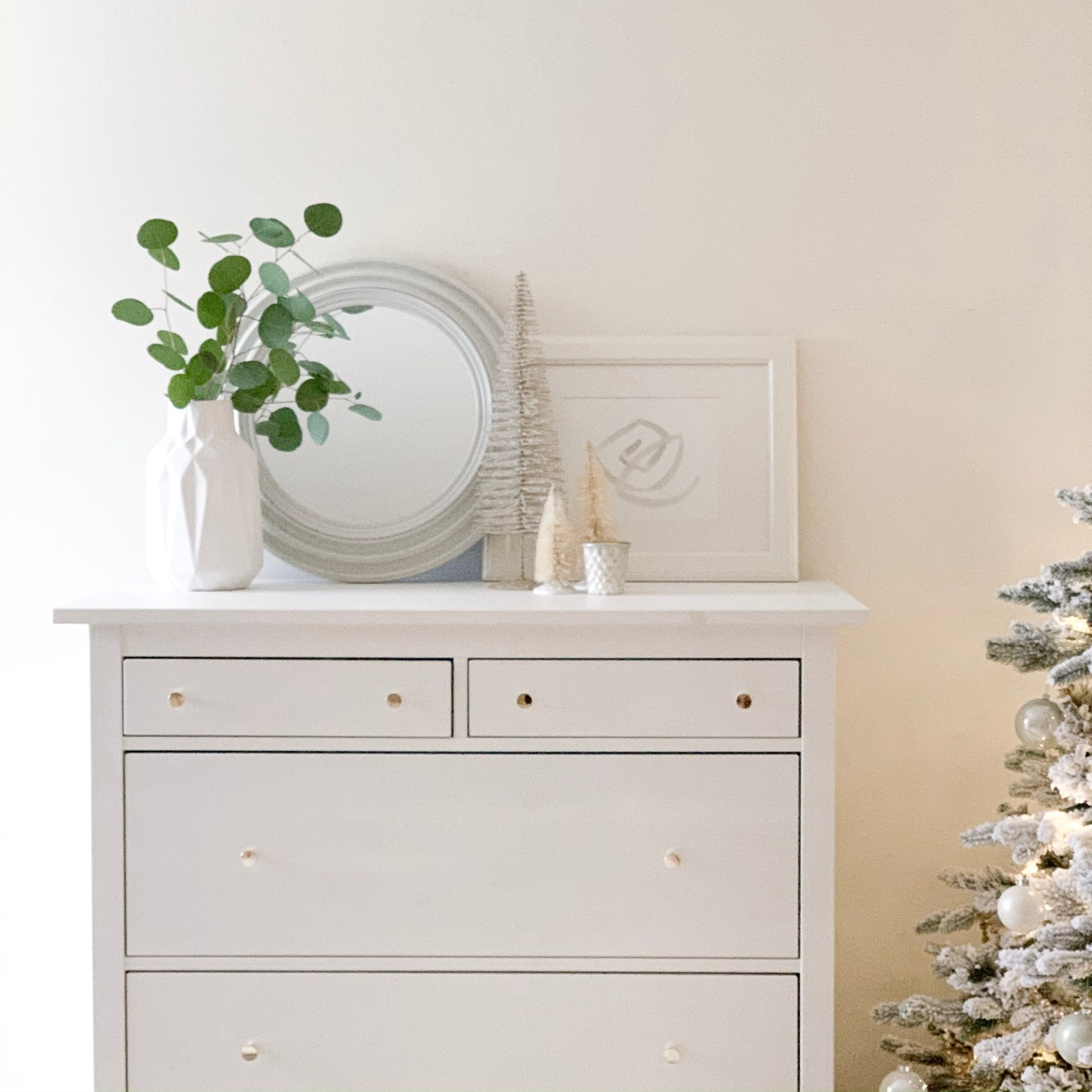 decorating for the holidays dresser