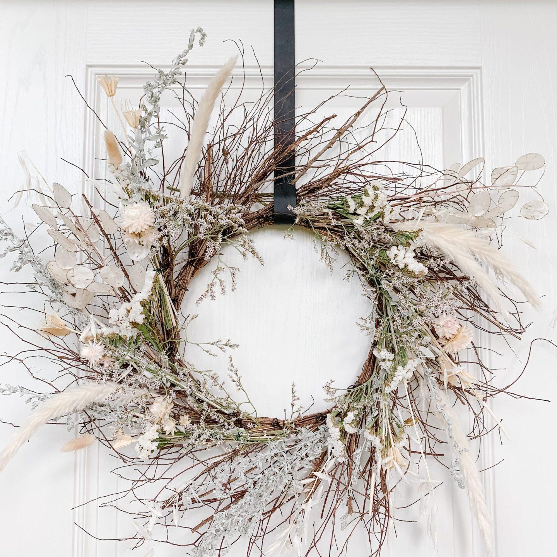 Dried Floral Fall Wreath DIY