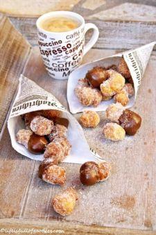 Chocolate Dipped Cronut Bites