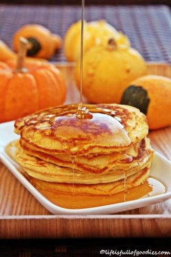 Süße Kürbis-Pancakes