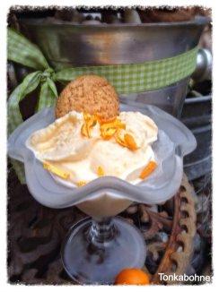 Orangen-Sauerrahm-Eis von Tonkabohne http://tonkabohne.blogspot.de/