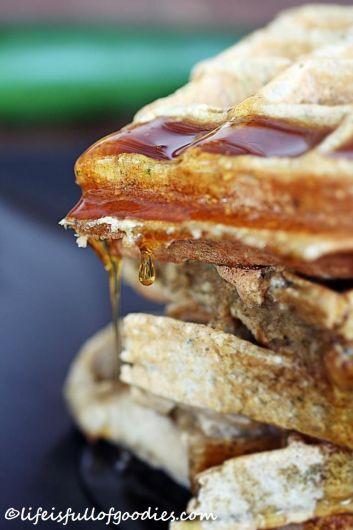 Oatmeal Zucchini Waffles
