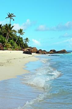 Traumstrand, oder?! Definitiv! Auf den Seychellen!