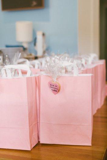 Die Goody-Bags für meine Gäste warteten ebenfalls auf ihre neuen Eigentümer