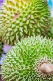 Eine wunderschöne Fruchthülle hat die Durian