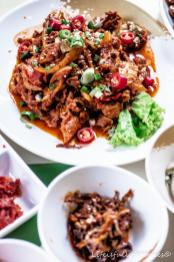 Essen beim Koreaner in Singapur