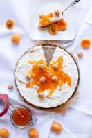 Milchreistorte mit Aprikosen