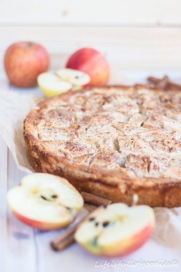 Apfelkuchen mit Rahmguss