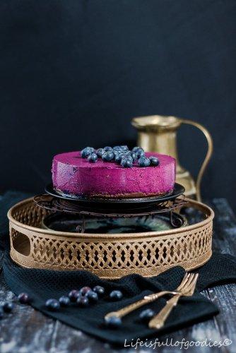 Blaubeer-Cheesecake beim 1. Foto Workshop