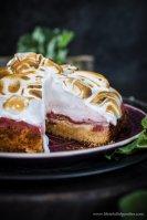 Rhabarberpüreekuchen mit Toasted Marshmallow Fluff