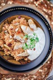 Orientalischer Reis mit Hähnchen