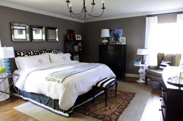 bedroom decorating painted charcoal