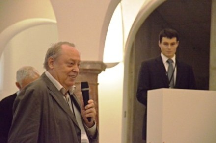 Listening to the question after my presentation, O&M Liberec, fall 2014