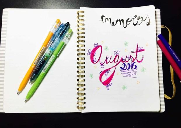 bullet journal august layout memories00