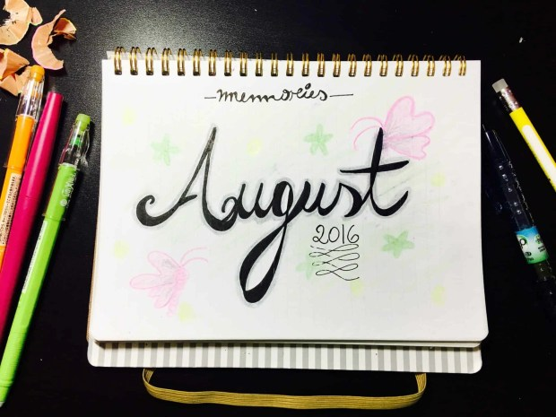 bullet journal august layout memories02