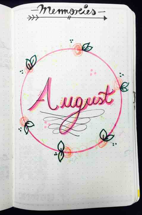 bullet journal august layout setup00